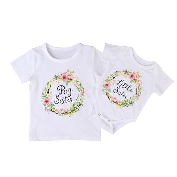 Little Sister / Big Sister Floral Tops