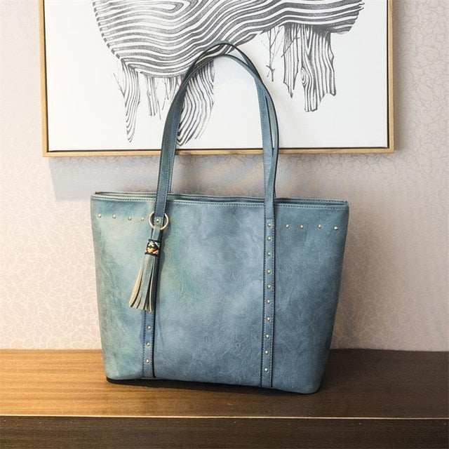 The Mamma Vintage Tote Bag - Blue