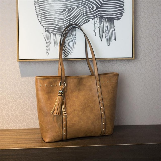 The Mamma Vintage Tote Bag - Brown