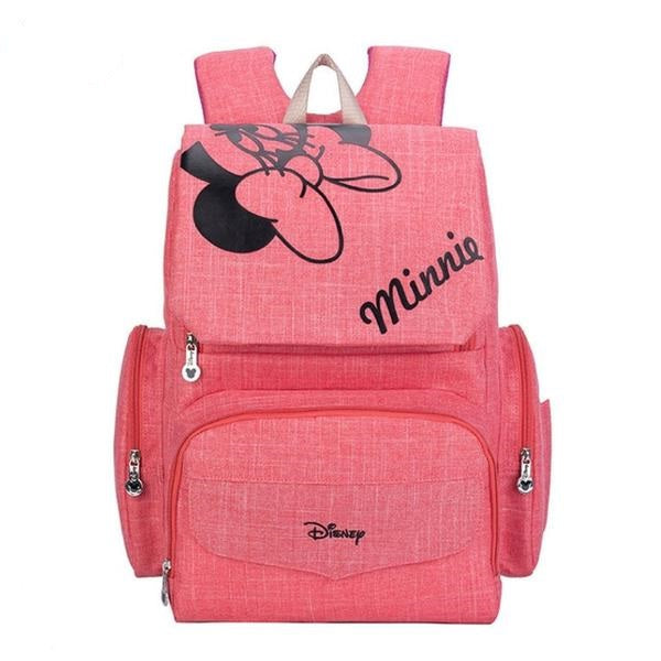 The Mamma Minnie Diaper Backpack - Pink