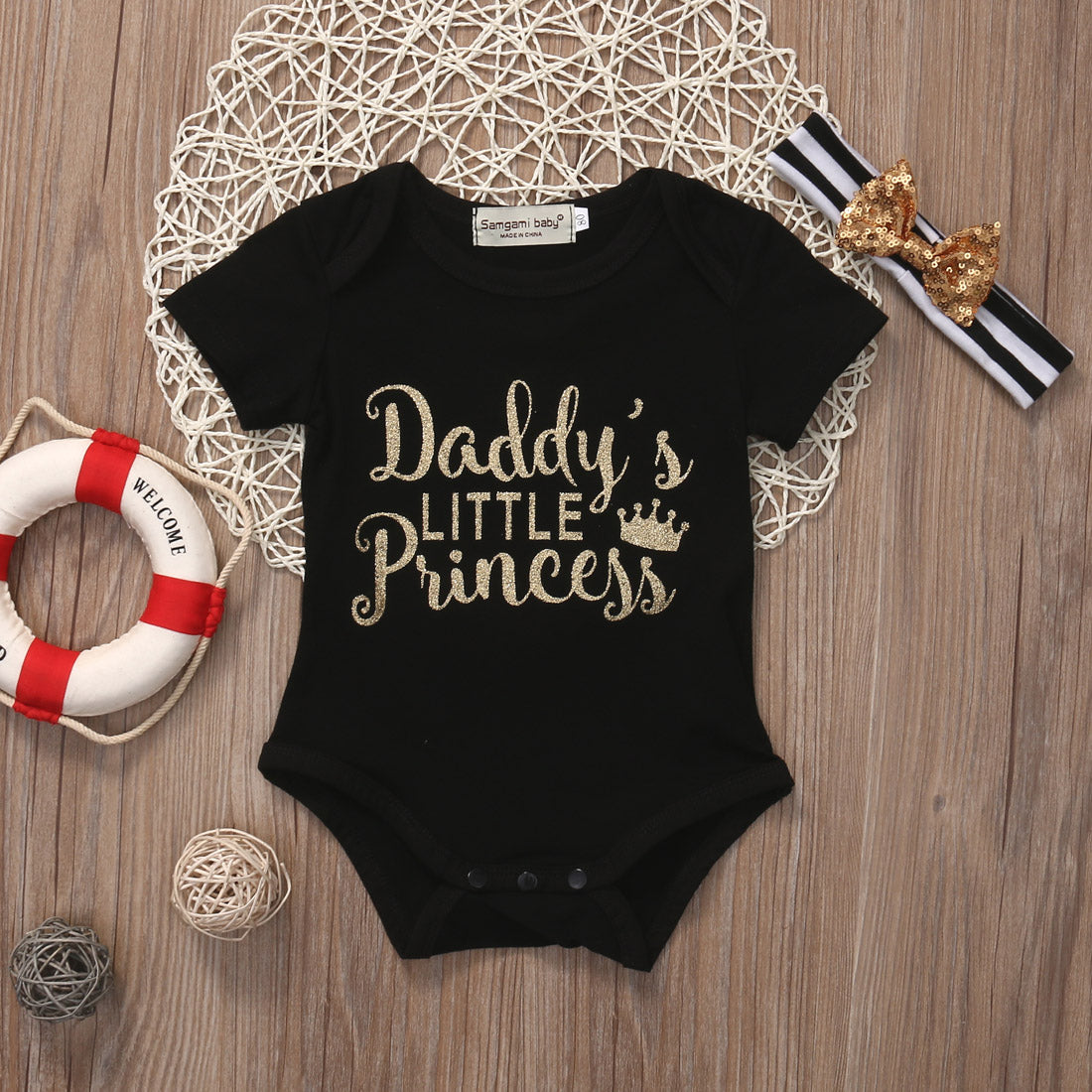 Daddy's Little Princess Top + Bow