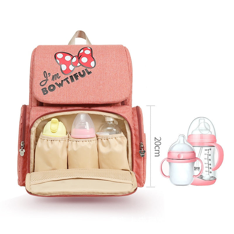 The Mamma Minnie Diaper Backpack - I'm Bowtiful