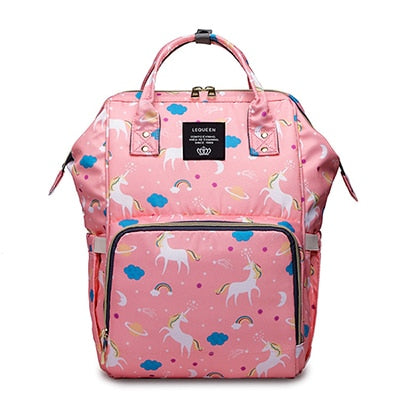 The Mamma Diaper Bag - Pink Unicorns