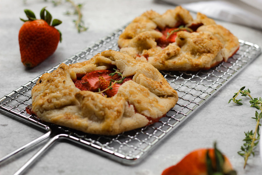 Healthy Summer Strawberry Thyme Galettes