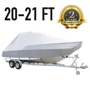 20 FT - 21 FT : Jumbo T-Top Boat Cover : 2 Year Warranty