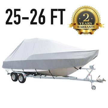 26 FT - 27 FT : Jumbo T-Top Boat Cover : 2 Year Warranty