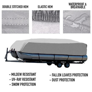 Pontoon Boat Cover : 17-20 FT : 1 Year Warranty