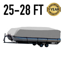 Pontoon Boat Cover : 25-28 FT : 1 Year Warranty