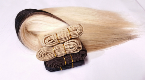 Different color hair extensions
