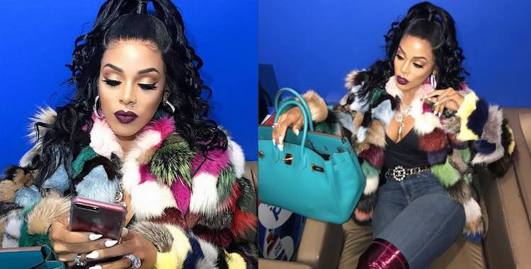 Keyshia Kaoir half up half down
