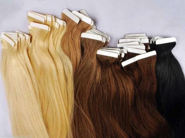 Tape-in-Human-Hair-Extensions-Adhesive-Remy-40-Pieces-Brazilian-Human-Hair-Tape-Extensions-Color613-Straight