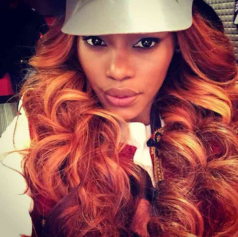 Teyana Taylor- Long orange curls