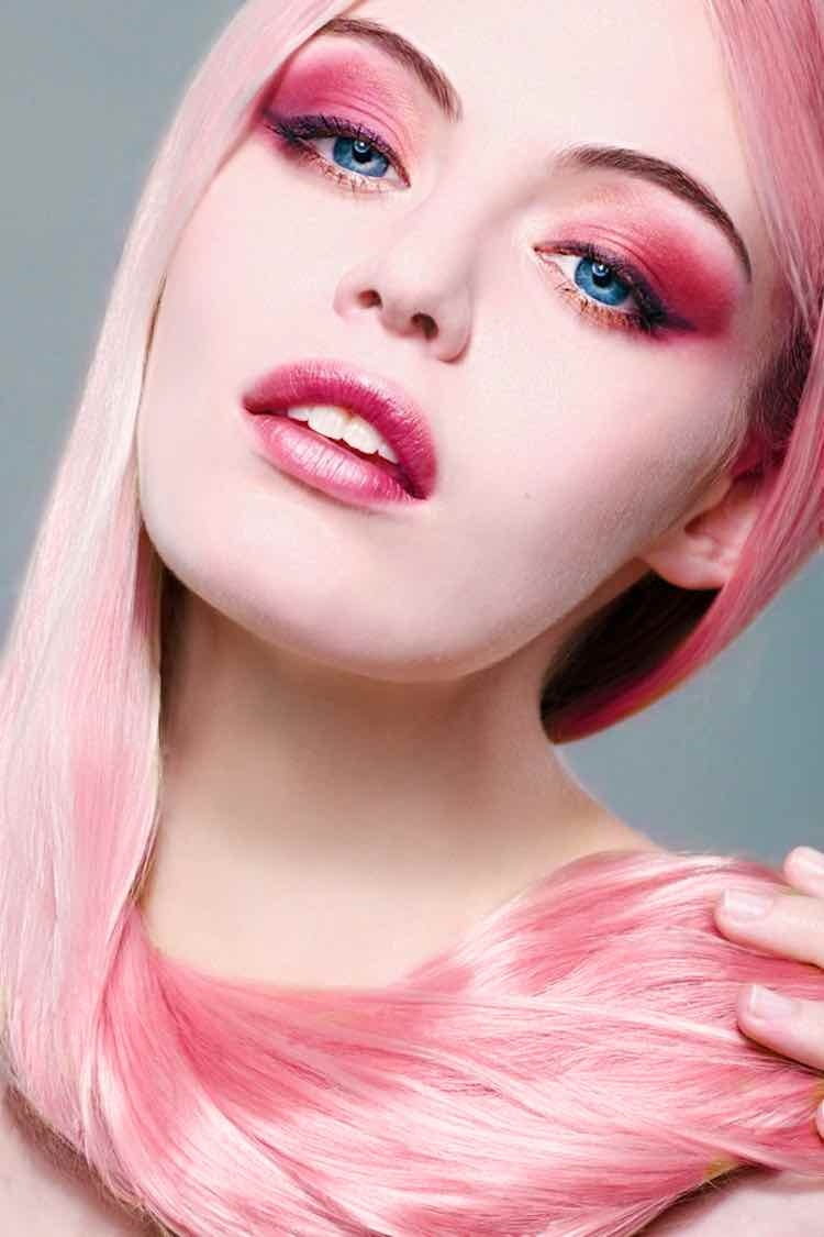 all-pink-makeup-hair