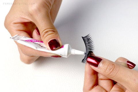 Applying Lash Adhesive