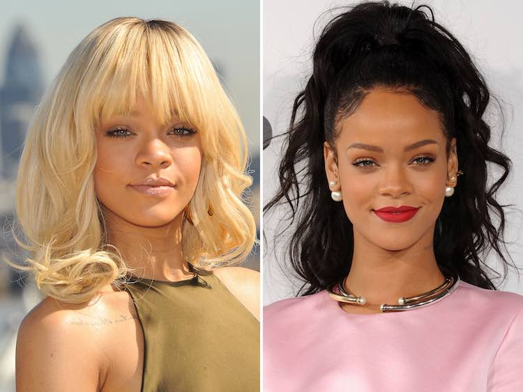 rihanna blonde vs black