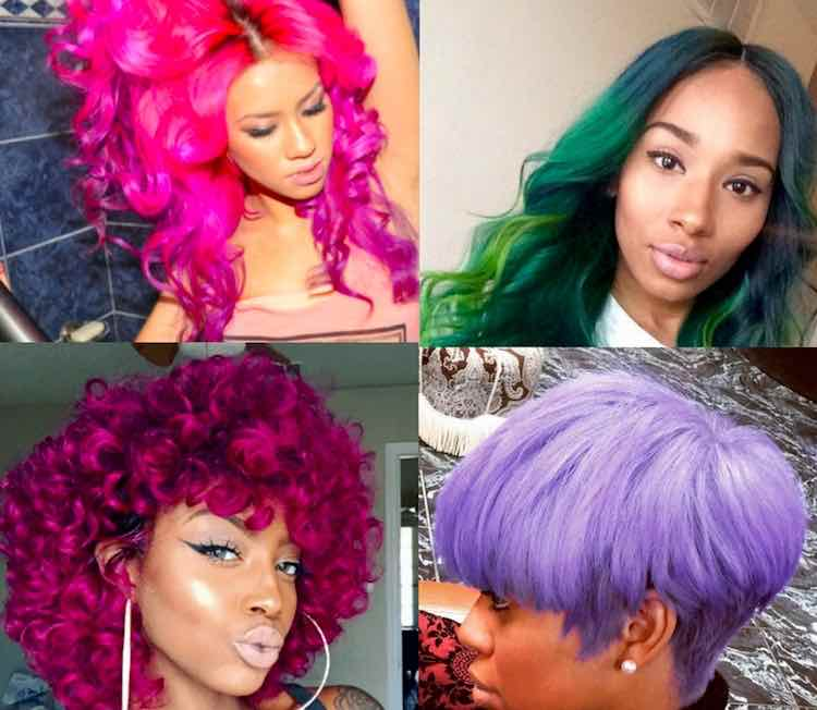 Bold colored Hair