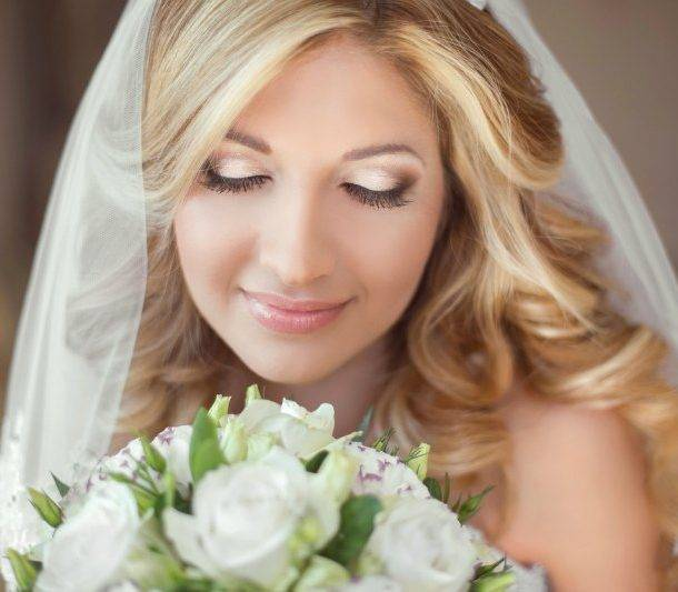 Bride Wearing Hair Extensions