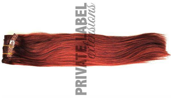 Cherry Plum Clip In Hair Extensions