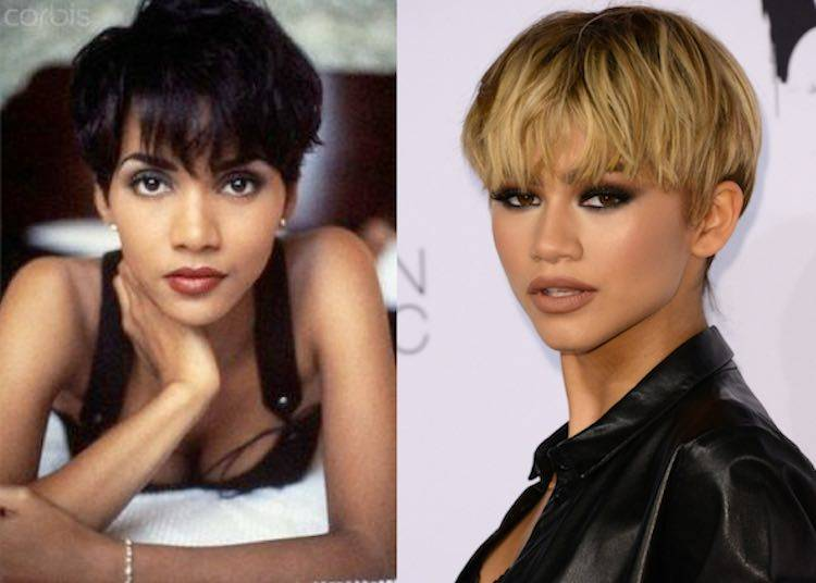 Halle berry zendaya short cut
