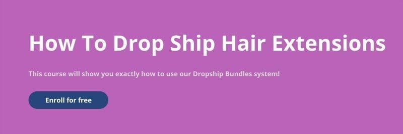 How to Dropship Hair Course