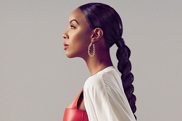 kelly rowland twisted ponytail
