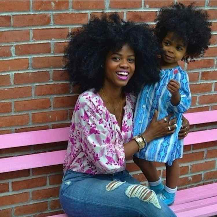 mom and child natural hair