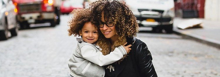 mom and daughter natural hair