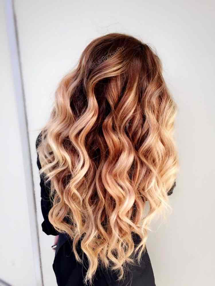 Ombre beach waves