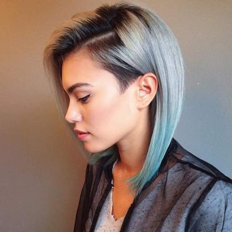ombre-colored-bob-shaved-sides