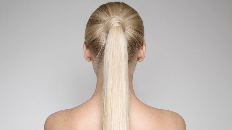 BLONDE ponytail