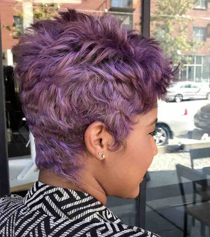 Purple Short Hair Cut
