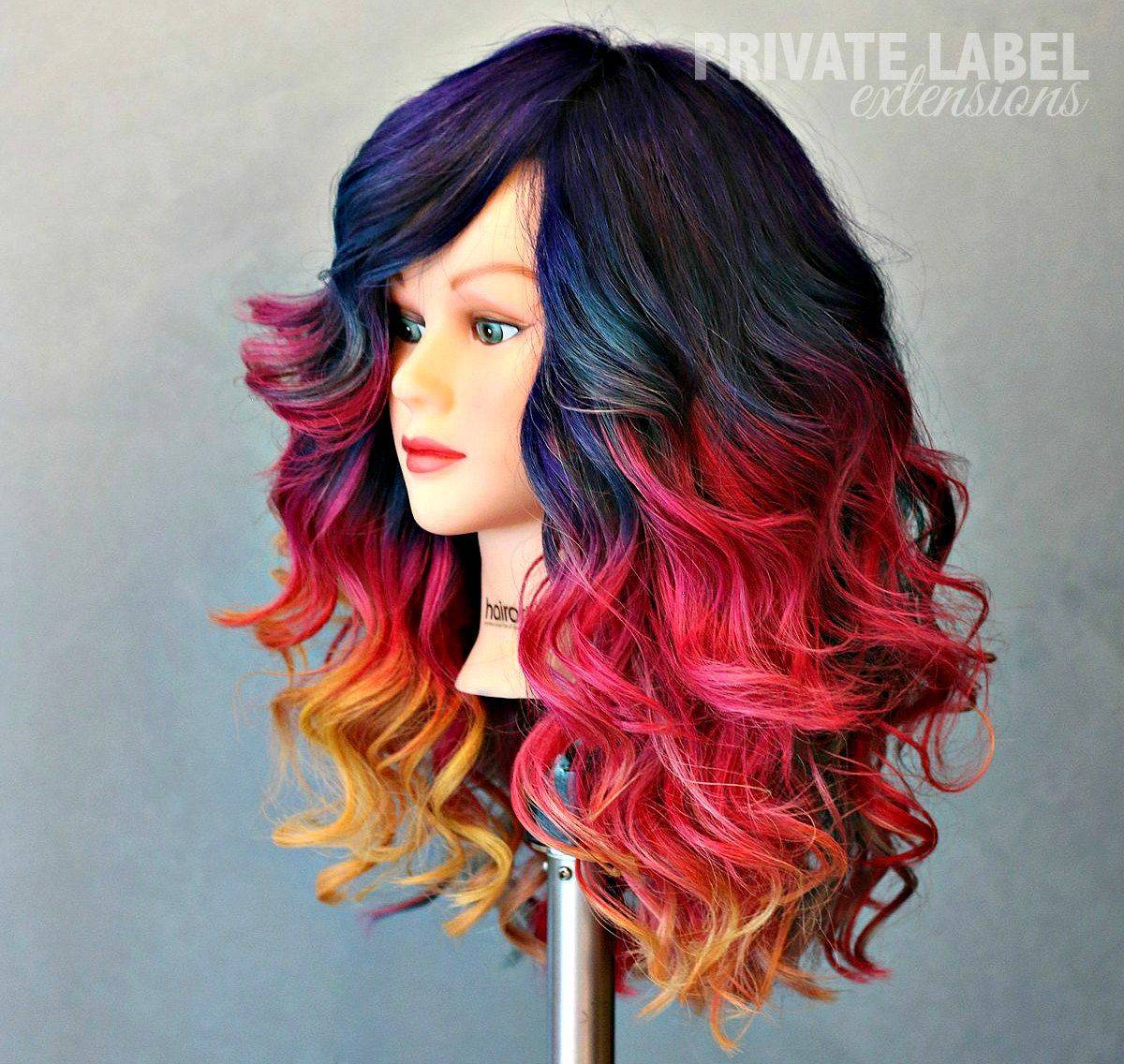 rainbow-color-wig
