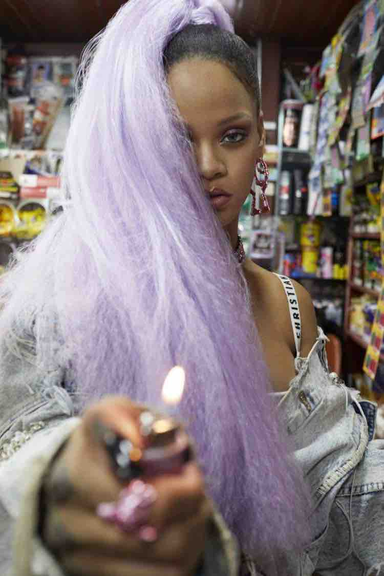 rihanna-synthetic-lavender-ponytail