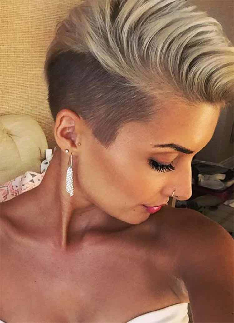Short Pixie Cut Shaved sides