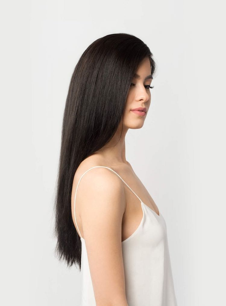 Straight classic black hair color