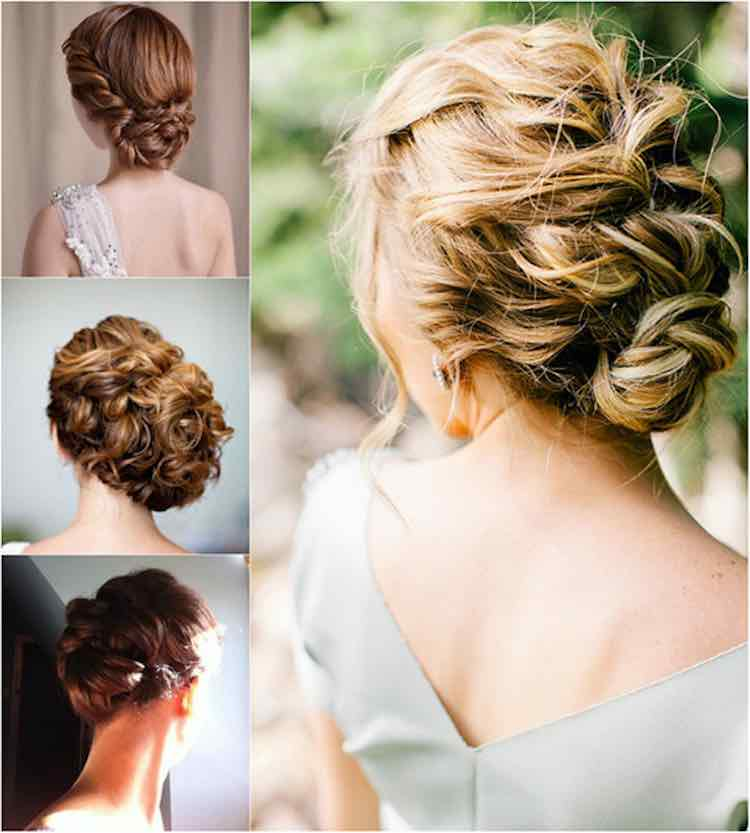 Updo with clip in extensions