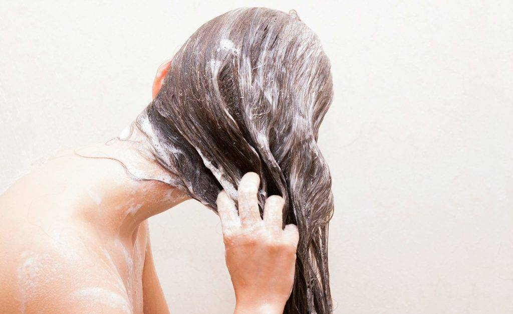 washing hair
