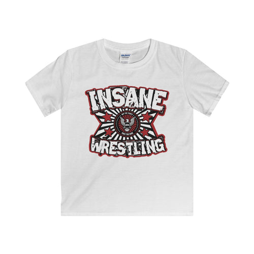 ICW Insane Wrestling Kids Softstyle Tee