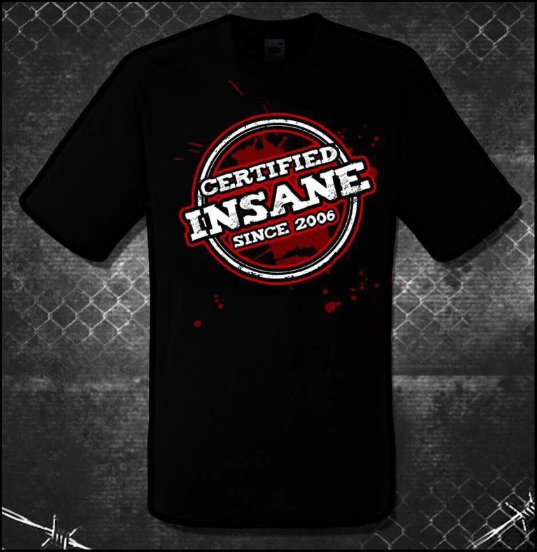 ICW 'Certified Insane' Unisex Heavy Cotton Tee