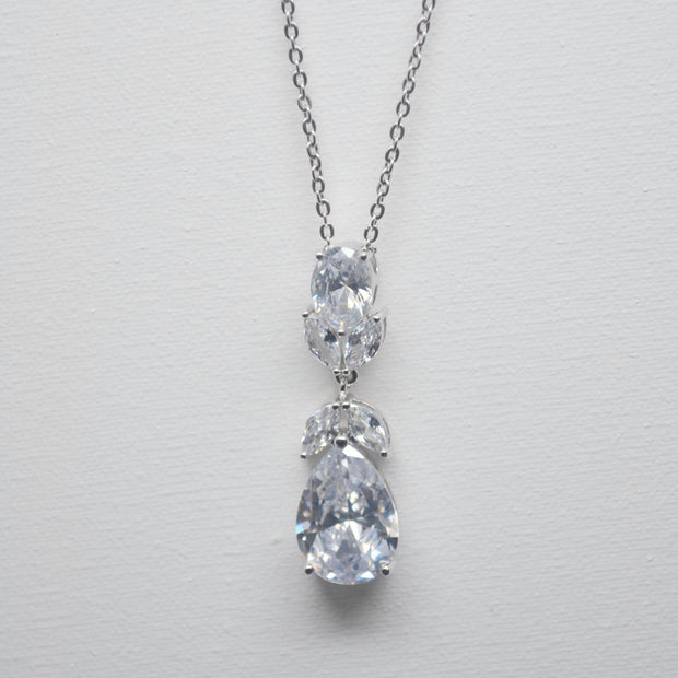 Isla Drop Necklace-wedding-Astor Chic