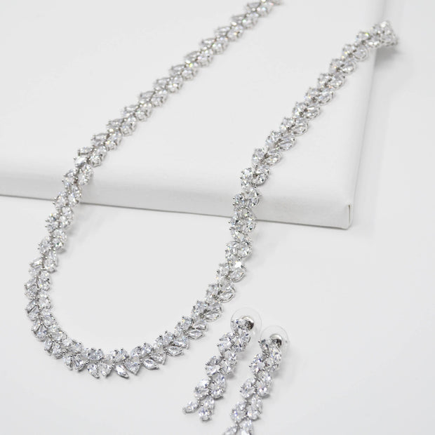 Gemma Necklace Earring Set-wedding-Astor Chic