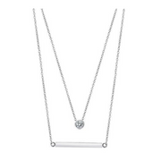 Bella Layered Necklace-wedding jewelry-Astor Chic