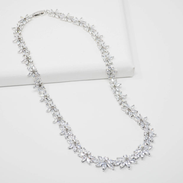 Evie Necklace Earring Set-wedding-Astor Chic