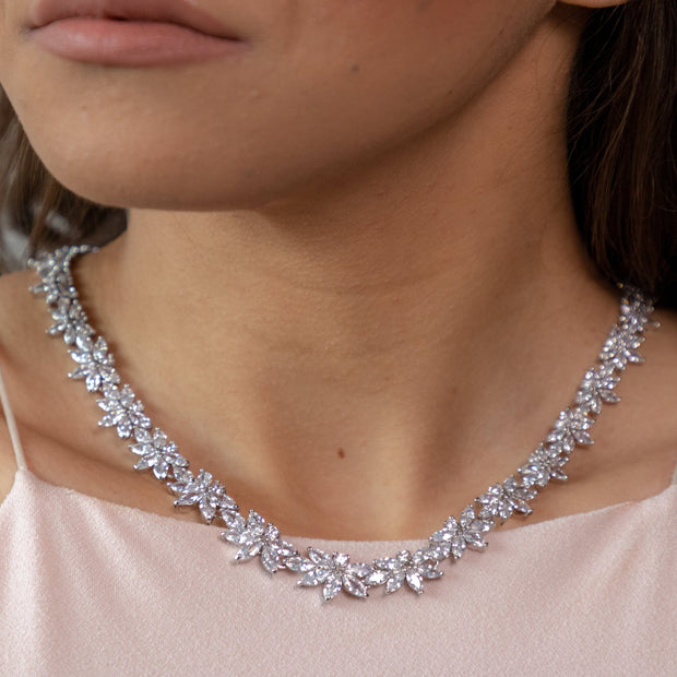 Evie Collar Necklace-wedding jewelry-Astor Chic