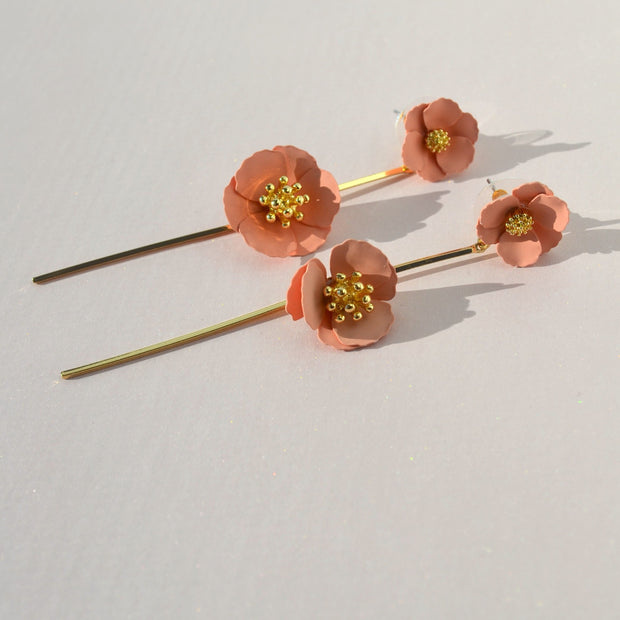 Mariah Floral Earrings-earring-Astor Chic