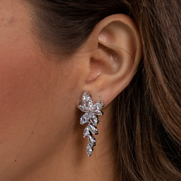 Lola Marquise Drop Earrings-jewelry-Astor Chic