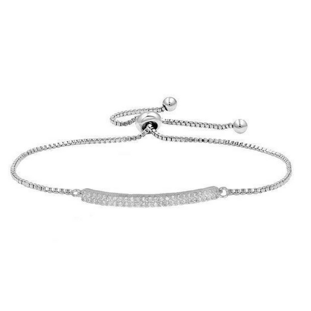 Jemima Single Bar Bracelet-wedding jewelry-Astor Chic