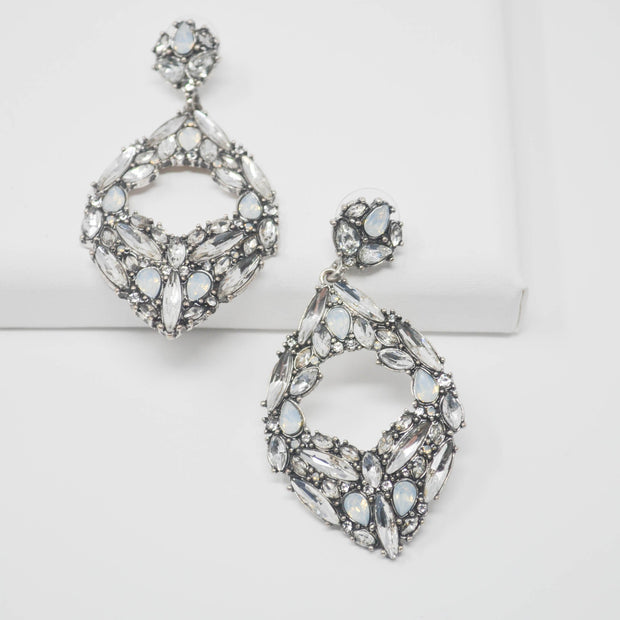 Diana Opal Earrings-jewelry-Astor Chic