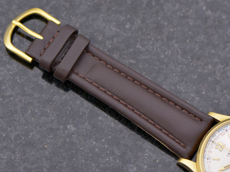 Brand New Genuine Leather Brown Band with matching Gold Tone Buckle