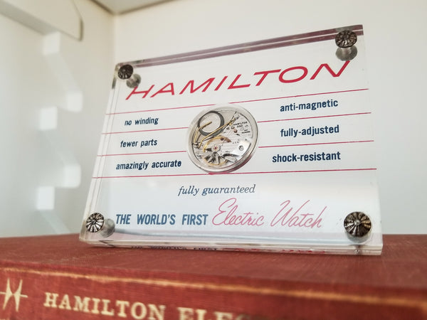 Hamilton Electric Plexiglass Movement Display